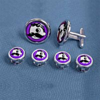 Natty Boh Silver Stud Set - Purple