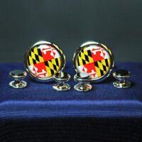 Maryland Flag Stud Set