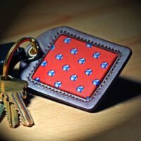 Natty Boh Leather Key Fob