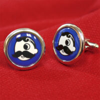 Natty Boh Cufflinks - Royal Blue