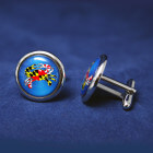 Maryland Crab Cufflink - blue