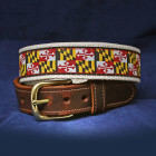 Maryland Flag Belt with Natural Webbing