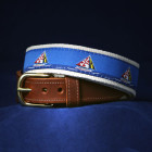 Maryland Skipjack Leather Tab Belt