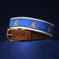 Maryland Skipjack Leather Tab Belt