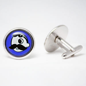 Natty Boh Cuff Links - Blue